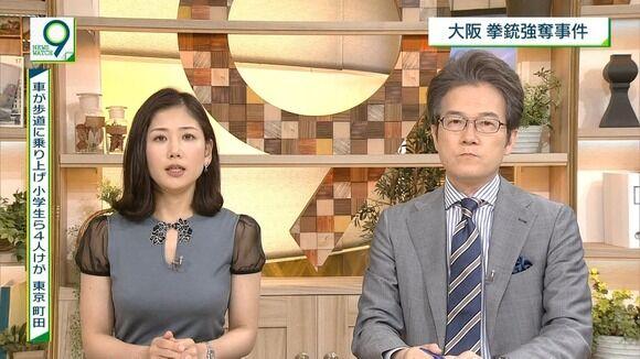 【画像】女子アナがエッチすぎる服を着てる!!