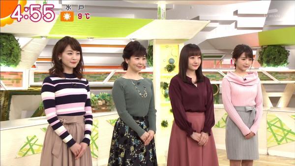 新井恵理那 エロいニットおっぱい 171230