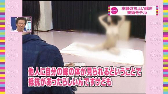 【画像】地上波でヌードモデルのモザイクが一瞬外れておっぱい丸出しに