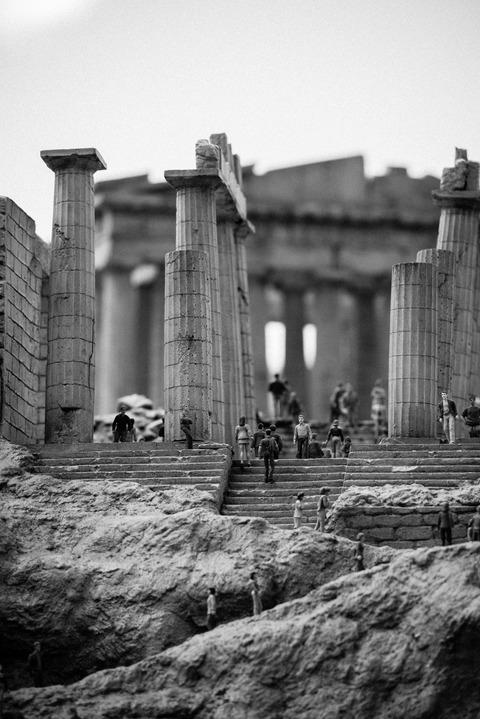 散策 [東武ワールドスクウェア/パルテノン神殿] : D800E + AF-S NIKKOR 70-200mm f/2.8G ED VRII