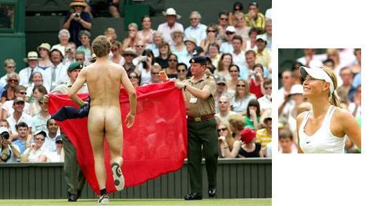マリア・シャラポワ ウィンブルドン選手権2006年 全裸男乱入