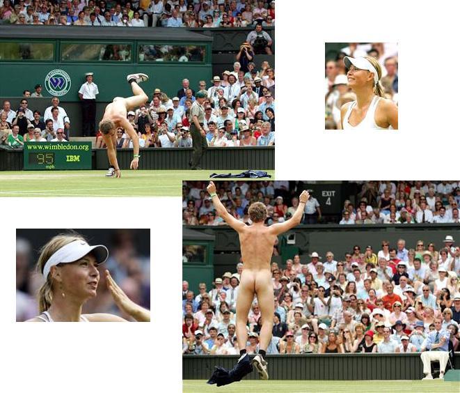 マリア・シャラポワ ウィンブルドン選手権2006年 全裸男乱入002