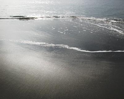 由比ガ浜の砂浜。