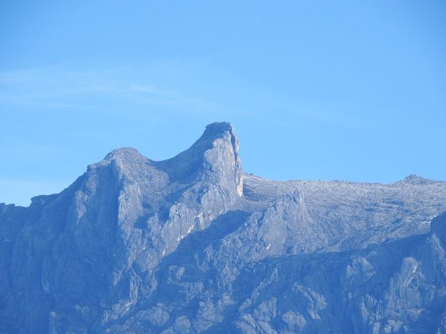 キナバル山中間ズーム