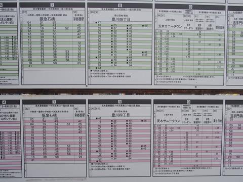 JR茨木駅バス時刻表38