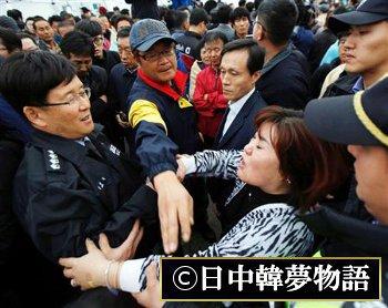 韓国船被害者家族 (4)