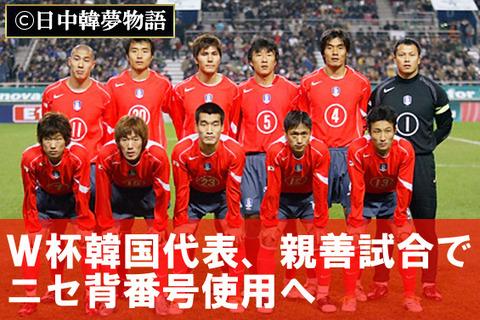韓国代表 ニセ背番号 (3)