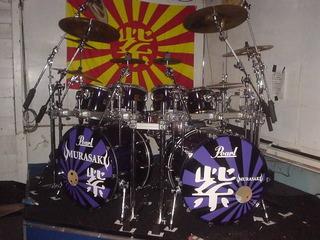 紫ドラム Chibi 宮永英一 ドラムセット