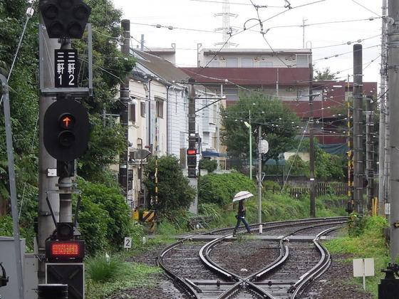NikonニコンCOOLPIX P300で撮影:世田谷線三軒茶屋駅