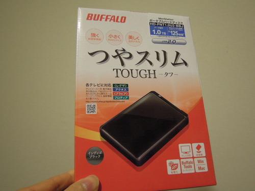 BUFFALO 耐衝撃 ポータブルハードディスク 1TB HD-PNT1.0U2-BBJ