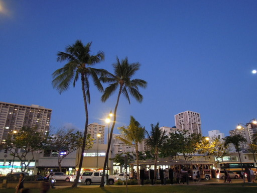 Nikon ニコン COOLPIX P300 で撮影 ハワイ ワイキキの街 夜 フラッシュなし