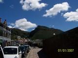 サイモンズタウンの山と青空