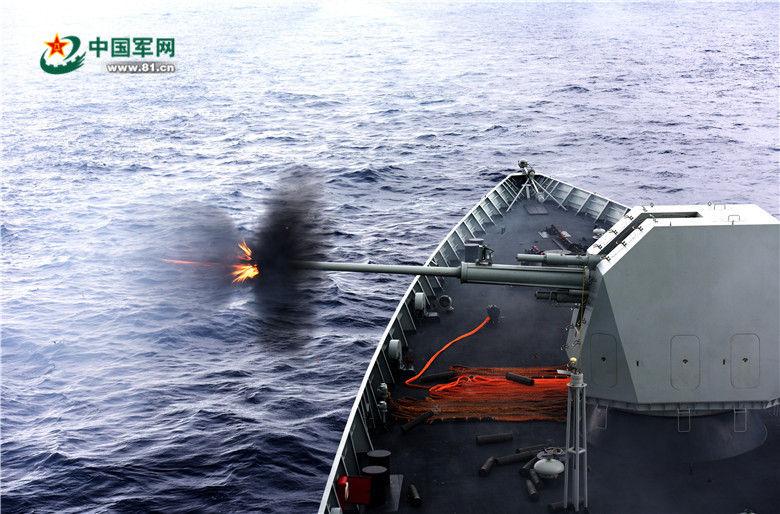 合肥 130mm実弾演習5.21西太平洋