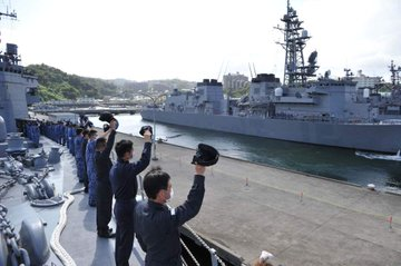加賀部隊が出航2020.9.7