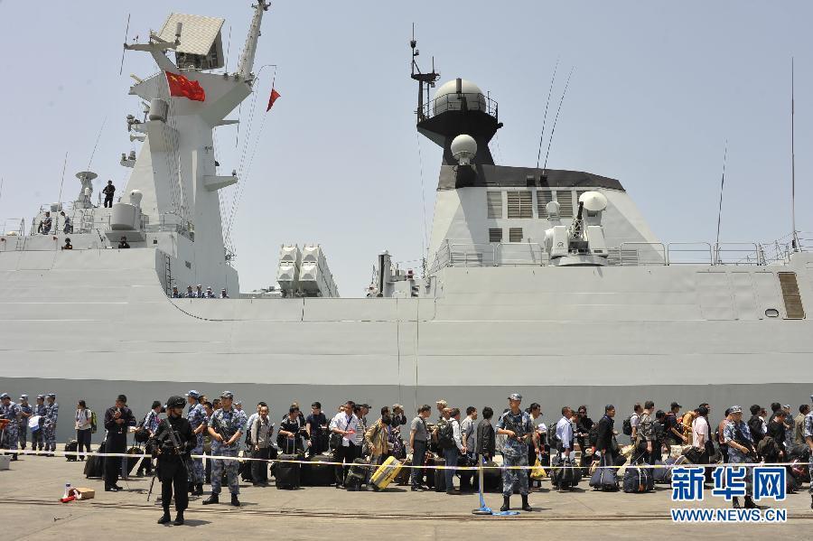 イエメンから撤退の中国人571名