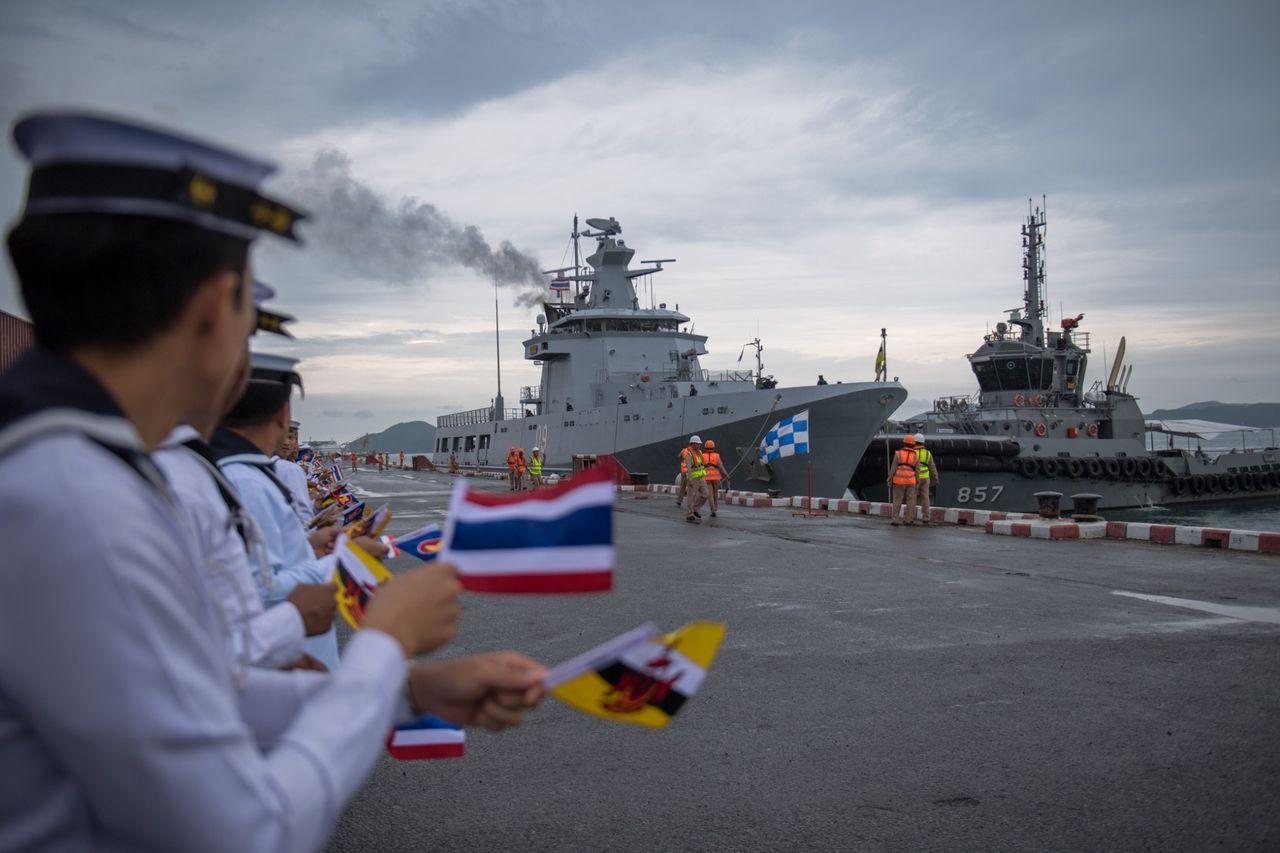 タイ観艦式 ブルネイ