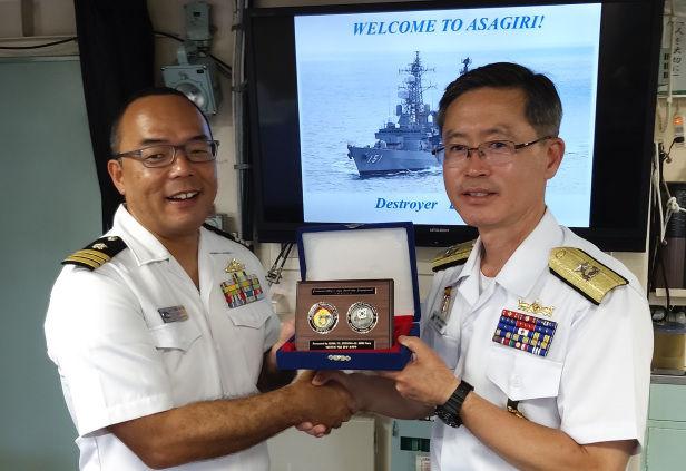 あさぎり、CTF151艦隊司令官を歓迎