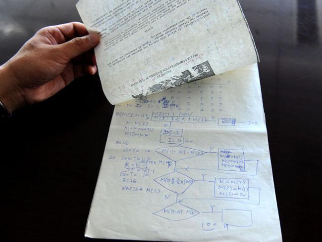 中国空母生前手稿
