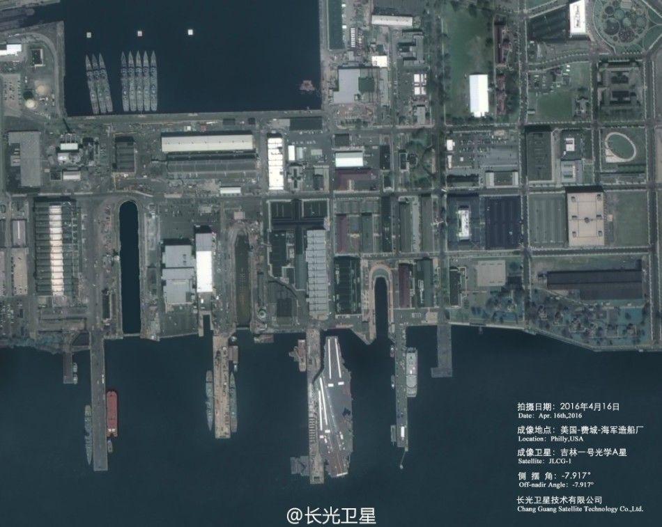 衛星中国が撮影したフィラデルフィア造船所その2
