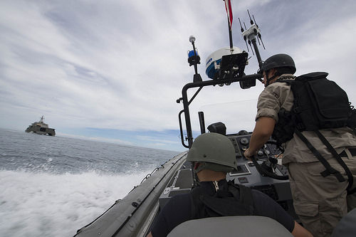 コロナド、ブルネイ海軍と演習2017.2.19