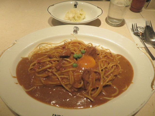 》昭和のカレー遺産《 インデアンカレー堂島店(大阪)で「スパゲッティ ルゥダブル」