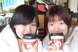 Hiroko and Manami in cafe