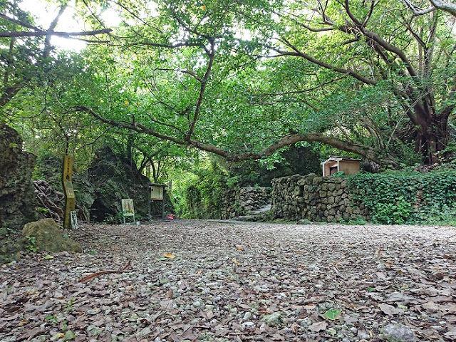 琉球の創世神アマミキヨが第一歩を記したとされる『ヤハラヅカサ』と仮住まいをしたとされる『浜川御嶽』☆