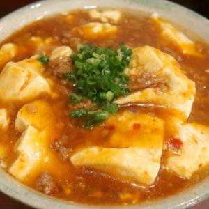 「金月そば 国際通りむつみ食堂店」で麻婆ゆし豆腐そば