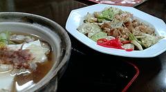 20091222-01金沢「いろは食堂」シロの味噌煮と湯豆腐