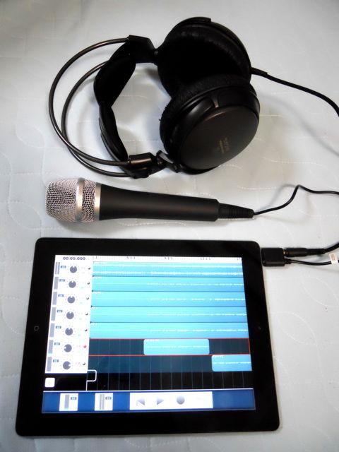 iPad + iRig Mic セッティング例