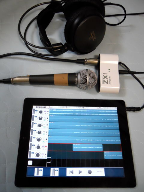 iPad + tascam iXZ セッティング例