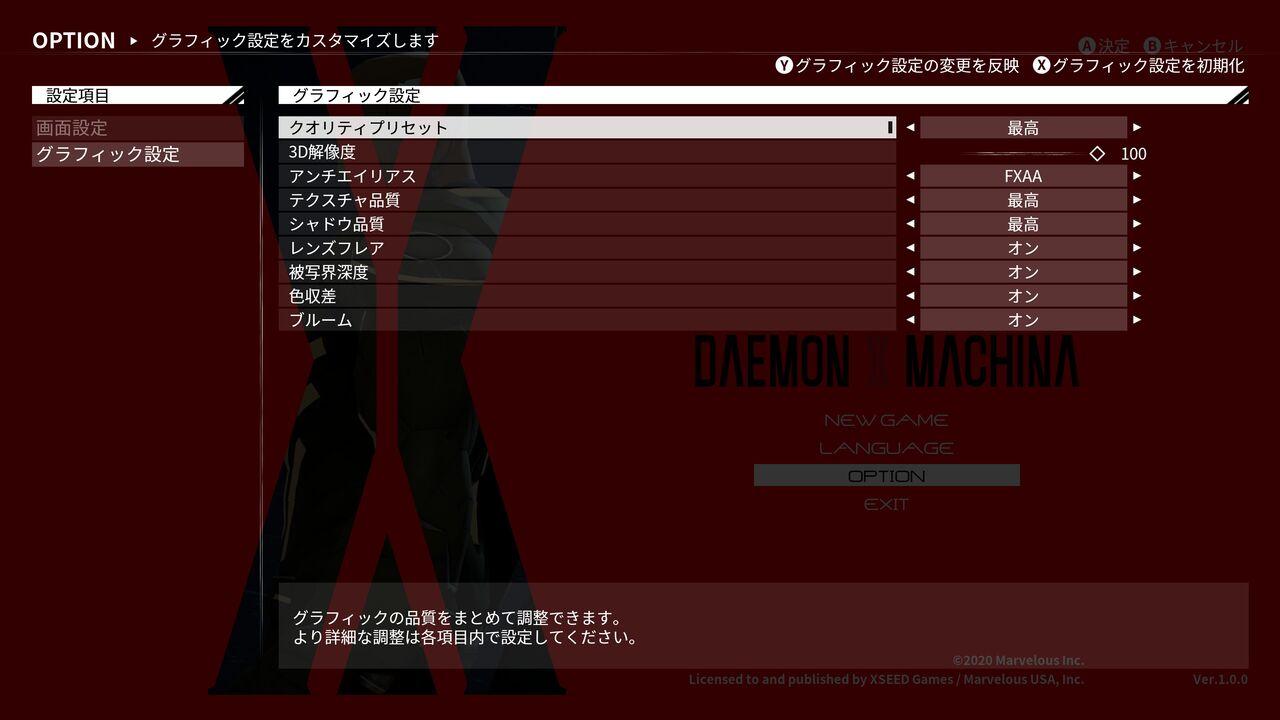 『DAEMON X MACHINA』PC版が発売されたぞ