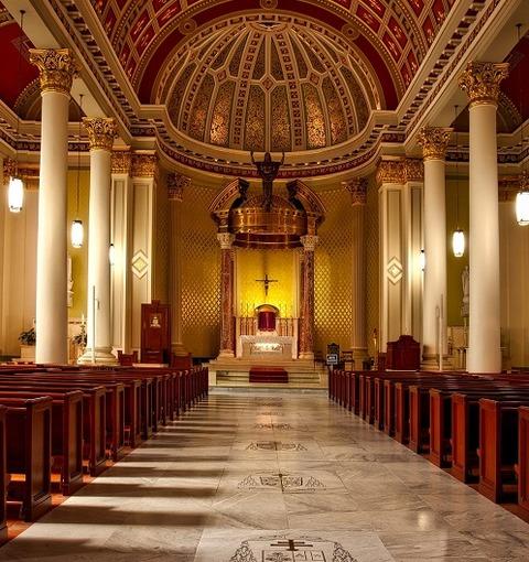 aisle-altar-arch-architecture-208277
