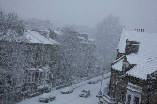 LONDONの雪