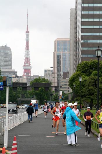 東京タワーとマラソン