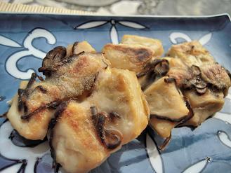 豆腐と塩昆布のお焼き