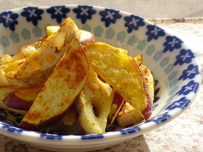 さつま芋と蓮根のカレー塩風味