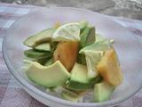 アボカドと柿のレモンサラダ2