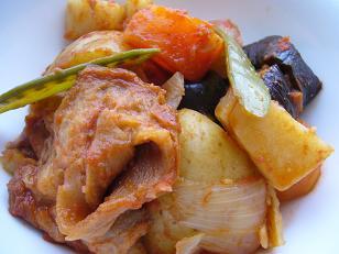 春野菜と焼き筍のラタトゥイユ 柚子胡椒風味