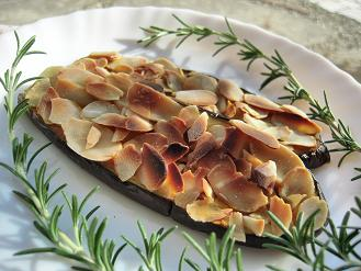 茄子のカレーアーモンド焼き