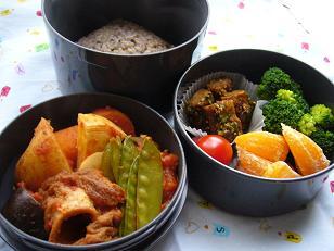春野菜と焼き筍のラタトゥユ 柚子胡椒風味のお弁当