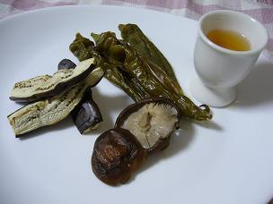 焼き野菜と梅酒ドレッシング