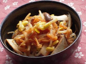 大豆もやしと切り干しエリンギの塩麹ナムル