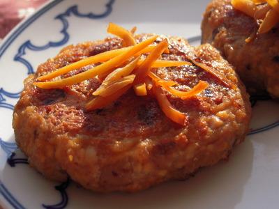 蓮根と豆腐のむっちりバーグ生姜焼き風味400