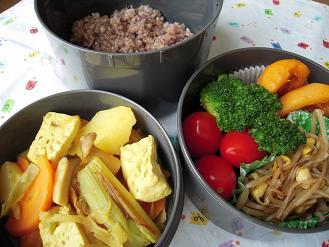 焼き葱の梅カレー煮のお弁当
