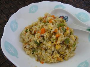 玄米ごはんの炒飯