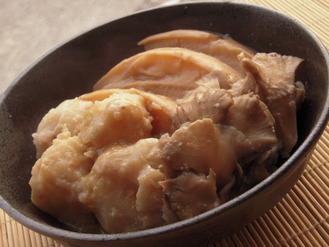 里芋と車麩の酒粕柚子胡椒風味