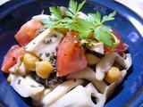 ひよこ豆ときのこのトマト炒め2