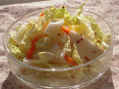 白菜とかぶの柚子マスタードサラダ