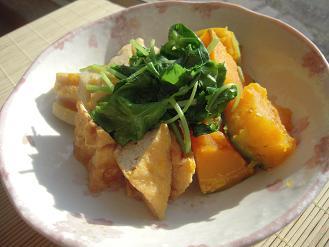 蓮根とかぼちゃの味噌煮生姜風味